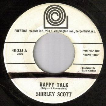 SHIRLEY SCOTT - HAPPY TALK - PRESTIGE dj