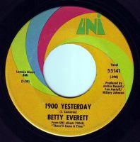 BETTY EVERETT - 1900 YESTERDAY - UNI