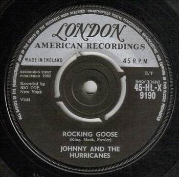 JOHNNY & HURRICANES - ROCKING GOOSE - LONDON