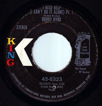 BOBBY BYRD - I NEED HELP - KING