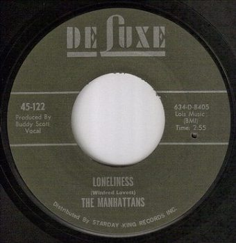 MANHATTANS - LONELINESS - DELUXE