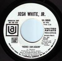 JOSH WHITE, JR - HERE I AM AGAIN - UA DEMO
