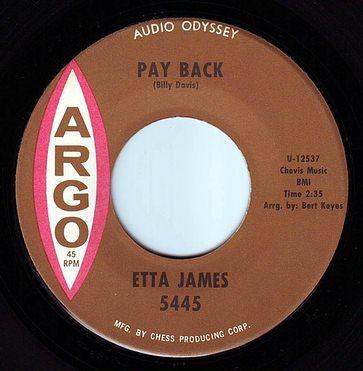 ETTA JAMES - PAY BACK - ARGO