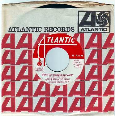 ARCHIE BELL & THE DRELLS - DON'T LET THE MUSIC SLIP AWAY - ATLANTIC DEMO
