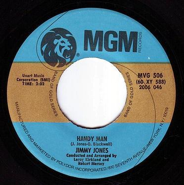 JIMMY JONES - HANDY MAN - MGM Band Of Gold
