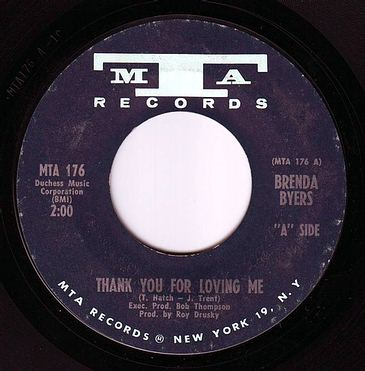 BRENDA BYERS - THANK YOU FOR LOVING ME - MTA