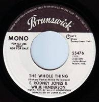 E. RODNEY JONES & WILLIE HENDERSON - THE WHOLE THING - BRUNSWICK DEMO