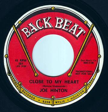 JOE HINTON - CLOSE TO MY HEART - BACK BEAT DEMO