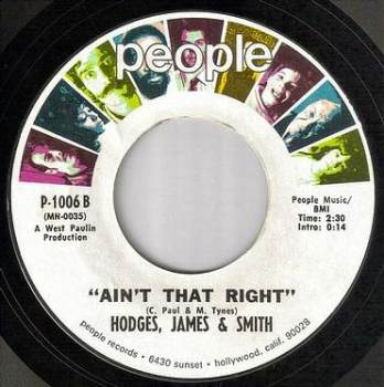 HODGES, JAMES & SMITH - AIN'T THAT RIGHT - PEOPLE