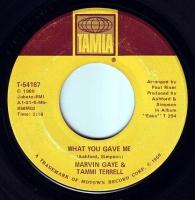 MARVIN GAYE & TAMMI TERRELL - WHAT YOU GAVE ME - TAMLA