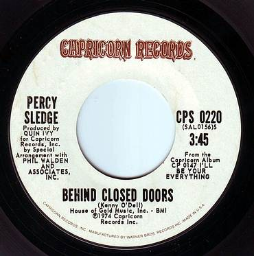 PERCY SLEDGE - BEHIND CLOSED DOORS - CAPRICORN