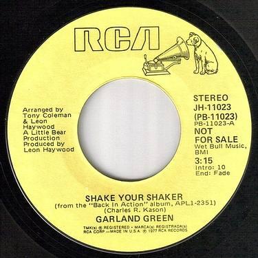 GARLAND GREEN - SHAKE YOUR SHAKER - RCA dj