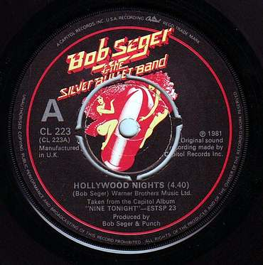 BOB SEEGER - HOLLYWOOD NIGHTS - CAPITOL
