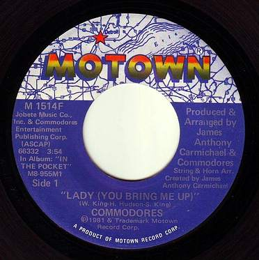 COMMODORES - LADY (YOU BRING ME UP) - MOTOWN