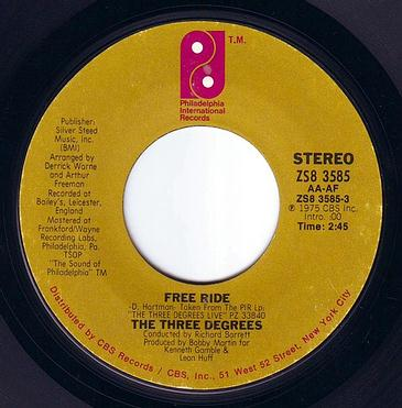 THREE DEGREES - FREE RIDE - PIR