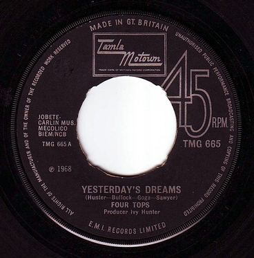 FOUR TOPS - YESTRDAY'S DREAMS - TMG 665