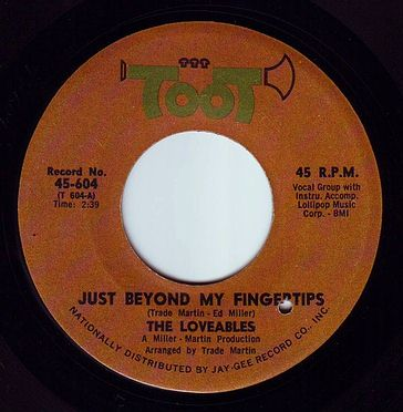 LOVEABLES - JUST BEYOND MY FINGERTIPS - TOOT