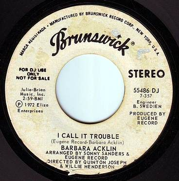 BARBARA ACKLIN - I CALL IT TROUBLE - BRUNSWICK DEMO