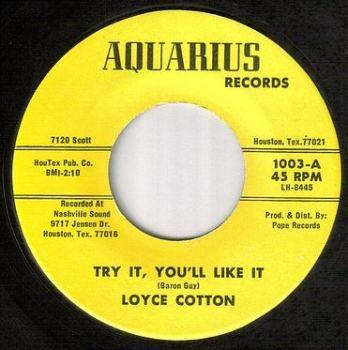 LOYCE COTTON - TRY IT, YOU'LL LIKE IT - AQUARIUS