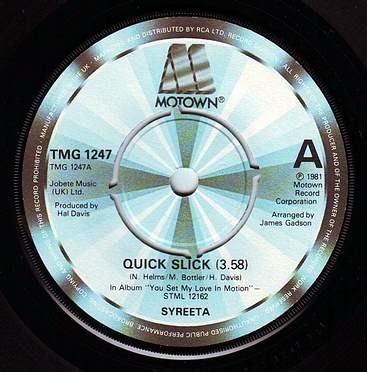 SYREETA - QUICK SLICK - TMG 1247
