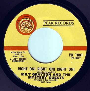 MILT GRAYSON - RIGHT ON! RIGHT ON! RIGHT ON! - PEAK