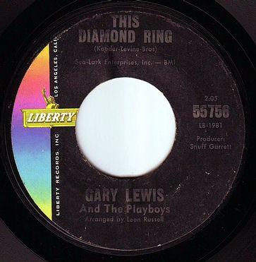 GARY LEWIS & THE PLAYBOYS - THIS DIAMOND RING - LIBERTY