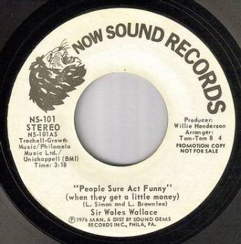 SIR WALES WALLACE - PEOPLE SURE ACT FUNNY - NOW dj