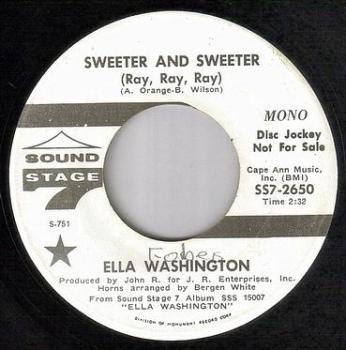 ELLA WASHINGTON - SWEETER AND SWEETER - SS7 dj