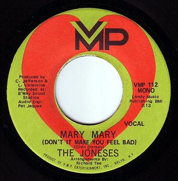 JONESES - MARY MARY (DON'T IT MAKE YOU FEEL BAD) - VMP