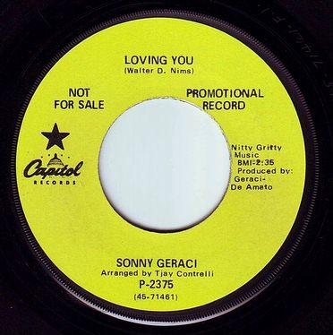 SONNY GERACI - LOVING YOU - CAPITOL DEMO