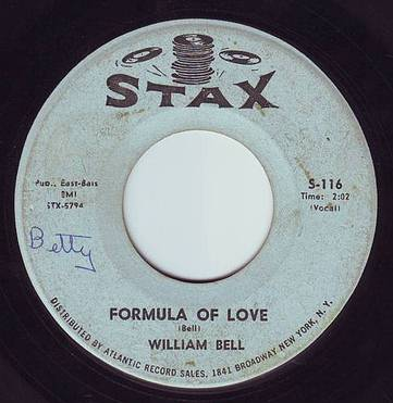 WILLIAM BELL - FORMULA OF LOVE - STAX