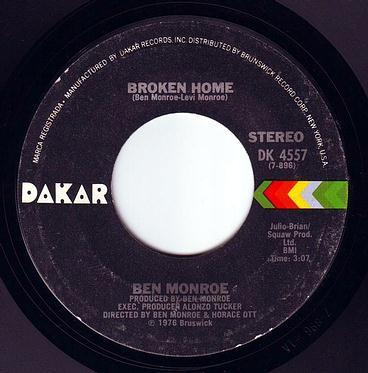 BEN MONROE - BROKEN HOME - DAKAR