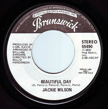 JACKIE WILSON - BEAUTIFUL DAY - BRUNSWICK DEMO
