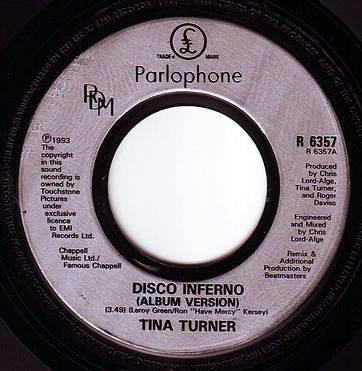TINA TURNER - DISCO INFERNO - PARLOPHONE