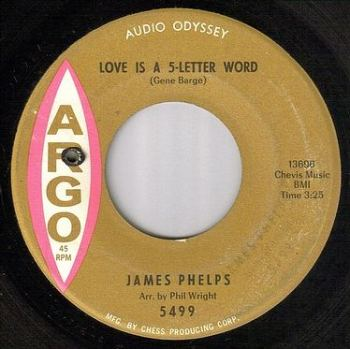 JAMES PHELPS - LOVE IS A 5-LETTER WORD - ARGO