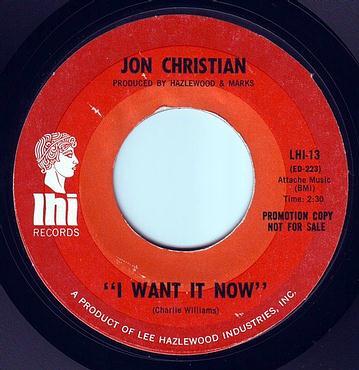 JON CHRISTIAN - I WANT IT NOW - LHI DEMO