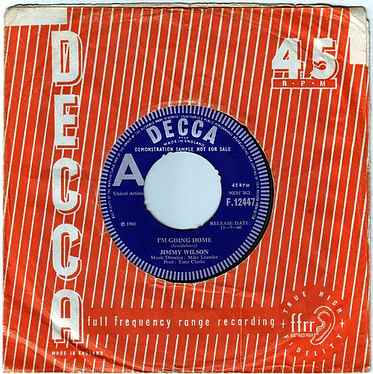 JIMMY WILSON - I'M GOING HOME - DECCA DEMO