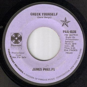 JAMES PHELPS - CHECK YOURSELF - PARAMOUNT dj