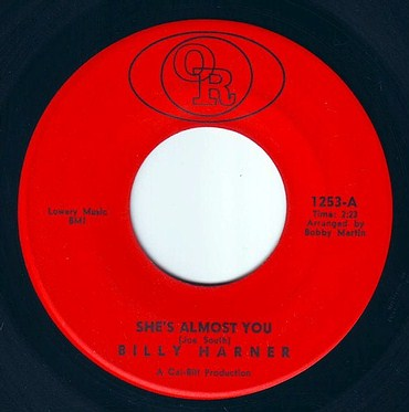BILLY HARNER - SHE'S ALMOST YOU - OPEN