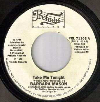 BARBARA MASON - TAKE ME TONIGHT - PRELUDE dj