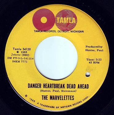 MARVELETTES - DANGER HEARTBREAK DEAD AHEAD - TAMLA