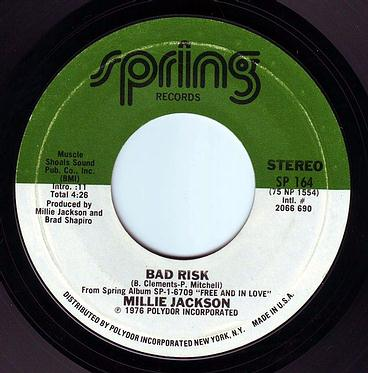 MILLIE JACKSON - BAD RISK - SPRING