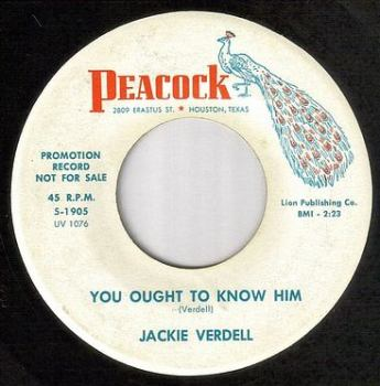 JACKIE VERDELL - YOU OUGHT TO KNOW HIM - PEACOCK dj