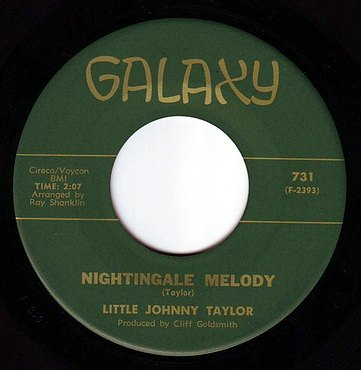 LITTLE JOHNNY TAYLOR - NIGHTINGALE MELODY - GALAXY