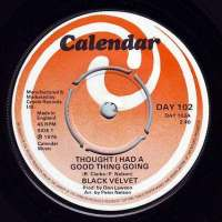 BLACK VELVET - THOUGHT I HAD A GOOD THING - CALENDAR