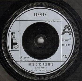 LABELLE - MISS OTIS REGRETS - TRACK