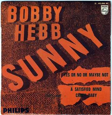 BOBBY HEBB - SUNNY - PHILIPS French EP
