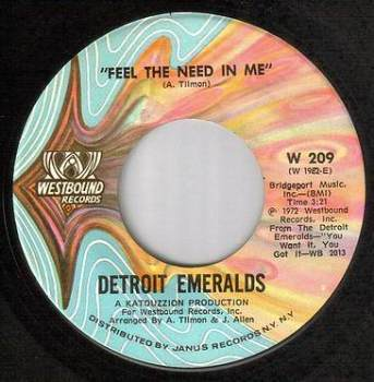 DETROIT EMERALDS - FEEL THE NEED IN ME - WESTBOUND