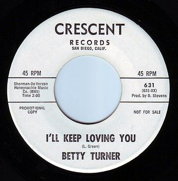 BETTY TURNER - I'LL KEEP LOVING YOU - CRESCENT DEMO