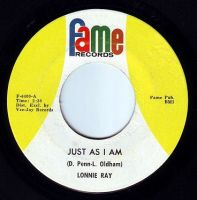 LONNIE RAY - JUST AS I AM - FAME
